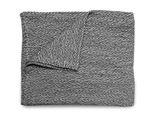 Weave Blanket - Charcoal Grey - Modern Crib Bedding