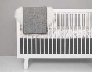 Feather Blush Crib Bedding Set - Modern Crib Bedding