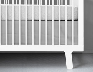Grey Crib Skirt - Modern Crib Bedding