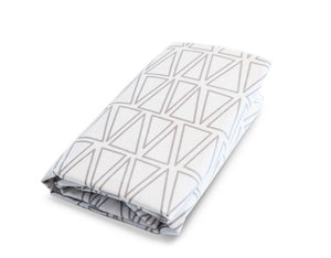 Mega Triangle fitted Crib Sheet Cotton Percale - Modern Crib Bedding