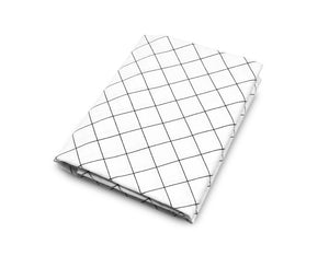 Grid Black and White Crib Sheet