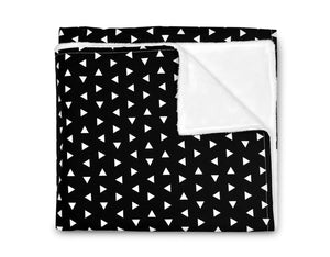 Triangle Crib Blanket - Black and White - Olli+Lime