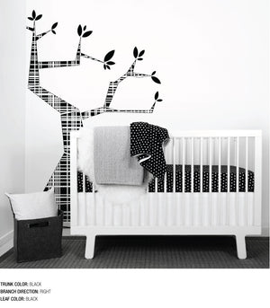 TREE WALL DECAL - Modern Crib Bedding