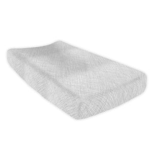 Nest Grey Changing Pad Cover - Olli+Lime