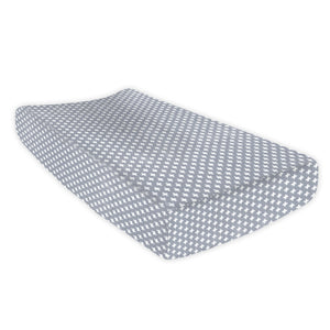 Grey Cross Changing Pad Cover - Olli+Lime