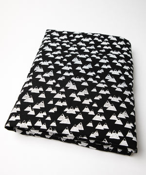 Mountain Fitted Crib Sheet Black and White - Olli+Lime