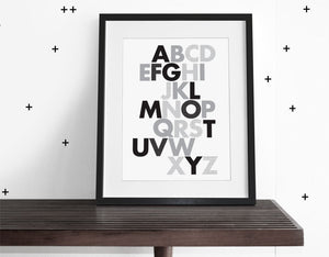 ABC WALL ART - Modern Crib Bedding
