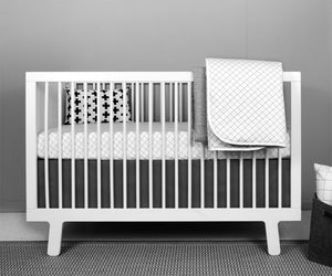 Grid Crib Bedding Set - Modern Crib Bedding