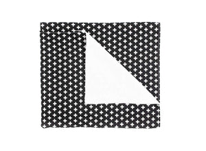 Swiss Cross Baby Blanket - black and White - Modern Crib Bedding