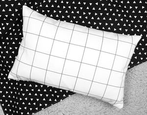 Grid Accent Pillow - Insert Included - Modern Crib Bedding