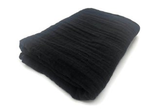 Midnight Black Double Gauze Swaddle Blanket - Modern Crib Bedding