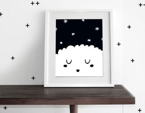 Sleepy Stars - Modern Wall Art - Olli+Lime