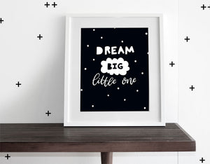 Dream Big Little One - Modern Wall Art - Olli+Lime