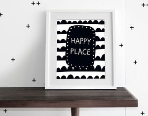 Happy Place - Modern Wall Art - Olli+Lime