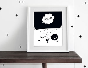 Hello - Modern Wall Art - Olli+Lime