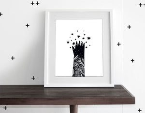 Reach for the Stars - Modern Wall Art - Olli+Lime