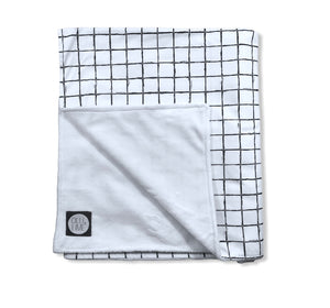 Cross the Grid Baby blanket