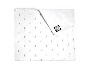 Little Bolts Crib Blanket - Black and White