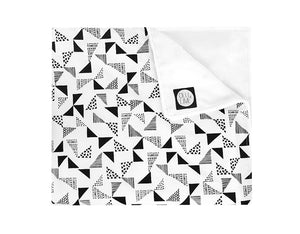 Multi Triangle Crib Blanket - Black and White
