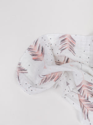 Feather Arrow Swaddle Blanket - Olli+Lime