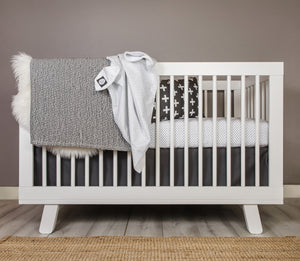 Dot Crib Bedding Set - Black and White - Olli+Lime