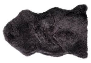 Modern Sheepskin Rug - Blackberry