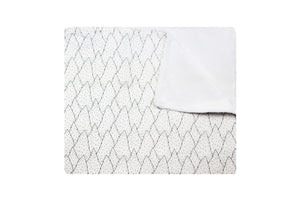 Wanderlust Trees Baby Blanket black and white
