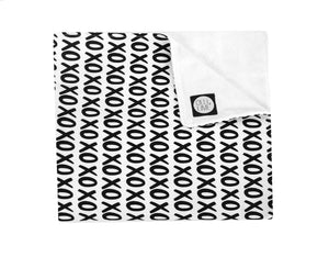 Mega XO Crib Blanket - Black and White