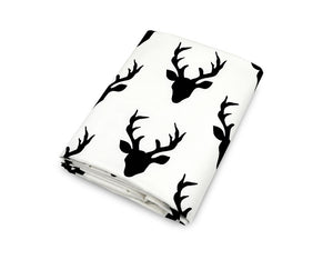Deer Fitted Crib Sheet Cotton Percale - Modern Crib Bedding