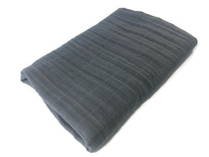 Charcoal Grey Swaddle Blanket - Modern Crib Bedding