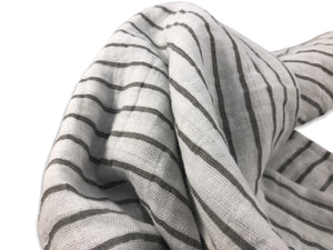 Modern grey and white swaddle blanket