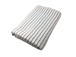 Grey Pencil Strip Swaddle Blanket - Olli+Lime