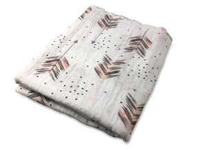 Feather Arrow Swaddle Blanket - Modern Crib Bedding