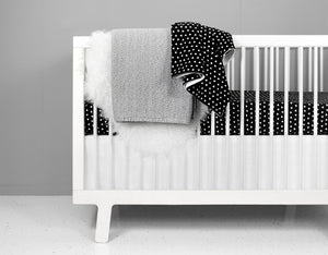 Black Triangle Crib Bedding Set