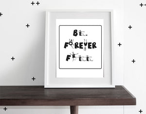 BE FREE (WHITE) - WALL ART - Modern Crib Bedding