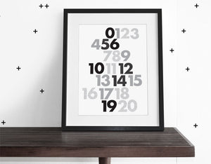 123 WALL ART - Modern Crib Bedding