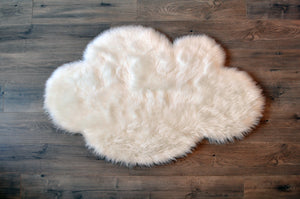 Cloud Area Rug White  - Faux Sheepskin