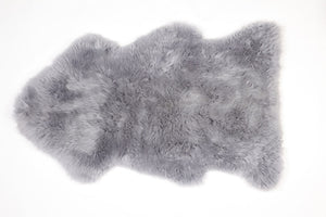 Grey Sheepskin Rug - Modern Crib Bedding