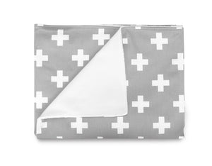 Grey Cross Blanket- Large Cross - Olli+Lime