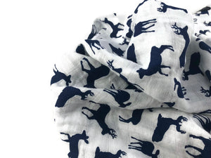 Navy Swaddle blanket