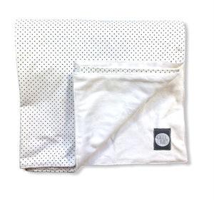 Dot Crib Blanket - Black and White