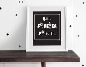 BE FREE - WALL ART - Olli+Lime