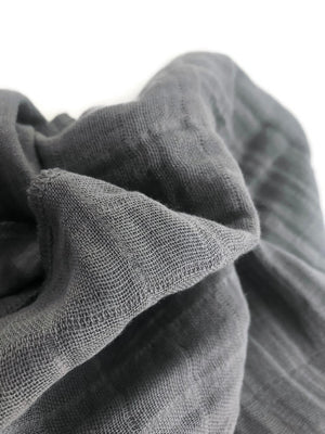 Charcoal Grey Swaddle Blanket
