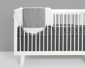 Swirl Crib Bedding Set - Black and White - Modern Crib Bedding