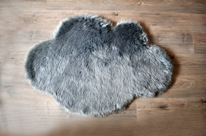 Cloud Area Rug Grey  - Faux Sheepskin