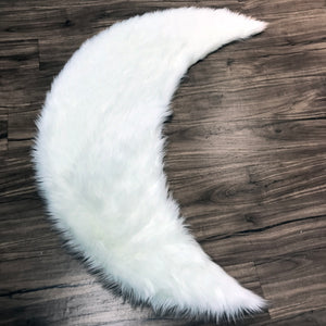 Moon in white Area Rug  - Faux Sheepskin