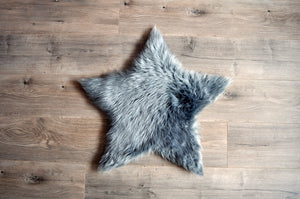 Star Area Rug Grey - Faux Sheepskin