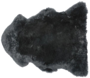 Modern Sheepskin Rug - Steel Gray