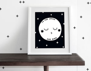 To The Moon - Modern Wall Art - Olli+Lime