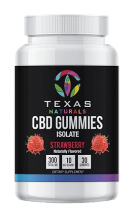 Strawberry Isolate CBD Gummies - Texas Naturals CBD Oil